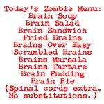 Zombie Brain Menu