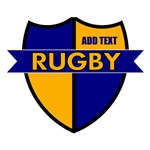 Rugby Shield Blue Gold