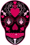 Sugar Skull with Hearts