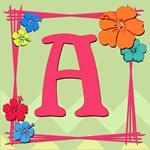 Tropical Art Monogram Totebags