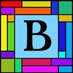 Pop Art Color Blocks Monogram Totebags