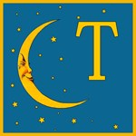 Moon and Stars Monogrammed Tote