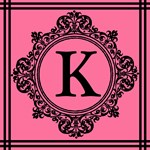 Pink And Black Monogram Tote by Scarebaby Design