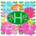 Monogram Tote with Brilliant Flowers
