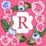 Pink Watercolor Roses Monogram Bags