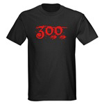Simple Number 300 in Red