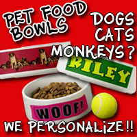 Pet Food Bowls Dogs, Cats, Monkeys! Two sizes