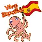 Viva Espana Psychic Octopus Soccer Tshirt