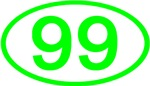 Number Ovals - 50 to 99 (Green)