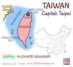 TAIWAN mini map gifts