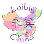 Laibin China Color Map