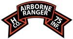 H Co 75th Infantry (Ranger) Scroll