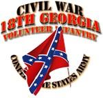 Civil War - 18th Georgia Volunteer Infantry - CSA