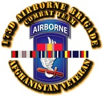 Army - 173rd Airborne Bde w Afghan SVC Ribbons
