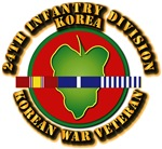 Army - 24th ID w Korean War SVC Ribbons