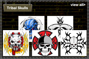 Tribal Skulls T-Shirts and Gifts