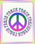 Hippie Colors Peace Sign