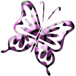 Purple and Black Retro Butterfly