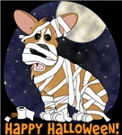 Halloween Corgi Mummy
