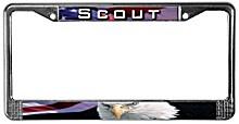 Scout & Eagle License Plate Frames