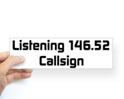 Custom Call Sign Bumper Sticker