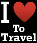 I Love to Travel Dark Tee