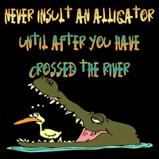 Never insult an alligator..