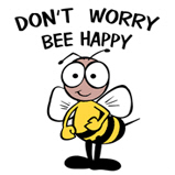 Don't Worry Bee Happy! T-Shirts & Gifts