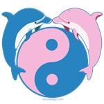 Dolphin Yin Yang Blue/Pink
