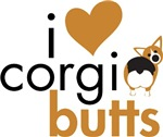 I Heart Corgi Butts - Red Headed Tri