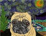 Starry Night Pug