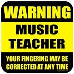 Warning music teacher