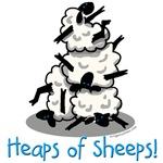 heaps of sheeps, farmer