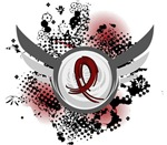 Grunge Ribbon Wings Sickle Cell Anemia Tees