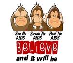 See Speak Hear No AIDS Shirts & Gifts