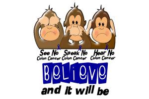 See Speak Hear No Colon Cancer 3