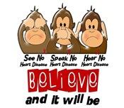 See Speak Hear No Heart Disease Gifts & Apparel