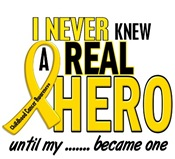 Never Knew A Hero Childhood Cancer Apparel