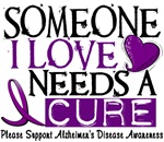 Needs A Cure 1 Alzheimers Disease T-Shirts & Gifts