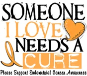 Needs A Cure ENDOMETRIAL CANCER Shirts & Gifts
