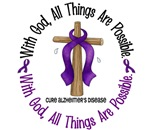 With God Alzheimer's Disease T-Shirts & Apparel