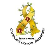 Flower Ribbon CHILDHOOD CANCER T-Shirts & Apparel