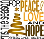 Christmas 1 Appendix Cancer Holiday Cards and Gift