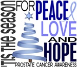 Christmas 1 Prostate Cancer Cards Ornaments Gifts