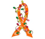 Christmas Lights Ribbon Multiple Sclerosis Gifts