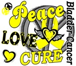 Peace Love Cure 2 Bladder Cancer Shirts Gifts