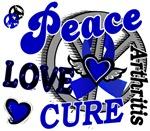 Peace Love Cure 2 Arthritis Shirts Gifts