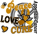 Peace Love Cure 2 Appendix Cancer Shirts Gifts