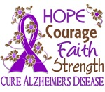 Hope Courage Faith Alzheimer's Shirts