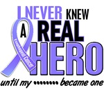 Never Knew a Real Hero 2 Esophageal Cancer Shirts